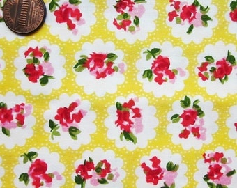 Cute Cotton Fabric - Yellow Rose