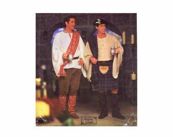 Celtic Scottish Kilt Shirt Pants Mens Costume Simplicity 8913 Sewing Pattern XS - S - M UNCUT