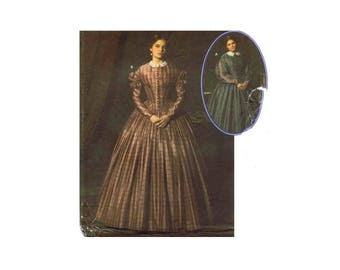 Simplicity 4400 Civil War Dress Costume Martha McCain Fashion Historian Sewing Pattern Size 8 - 10 - 12 - 14 UNCUT