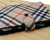 Tartan Filofax Domino pocket  Cover  rear external zipper and clear external vinyl pocket