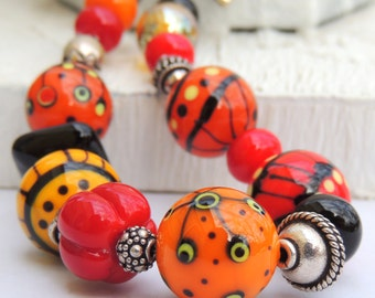 BEAD VITAMINS for the SOUL Handmade Lampwork Bead Bracelet