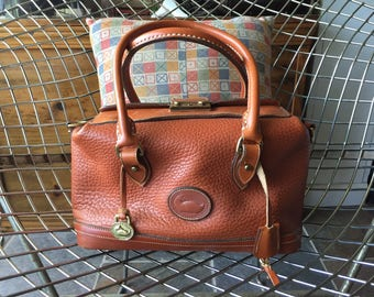 Authentic Vintage Dooney and Bourke Doctor Bag in tan