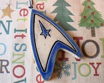 Trek Ornament - Christmas Ornament - Science Officer Blue