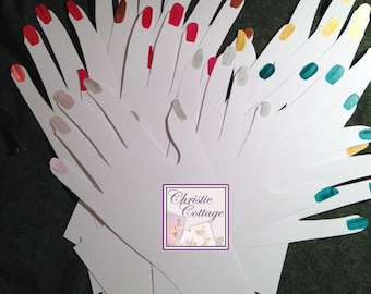 Hand Displays for Fingerless Gloves. 5 sets. Plus 5 singles For Crafts Shows