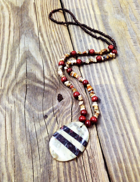 Piedra Stone Pendant Necklace bohemian jewelry artisan crafted