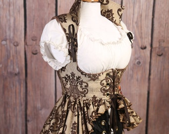 M Brown and Cream Grace Valkyrie Corset