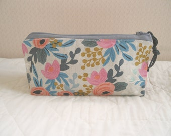 painterly linen case - small