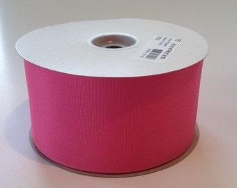"Hot Pink 3"" Grosgrain Ribbon Schiff MADE IN AMERICA 50 Yards"