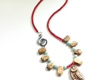 Stonewall Owl Necklace