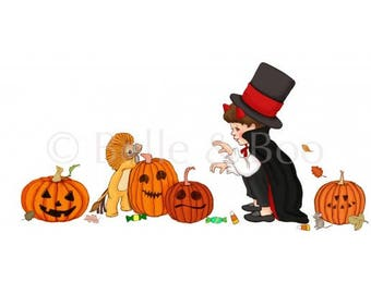 Ellis and Easy's Halloween Pumpkins Wall Sticker