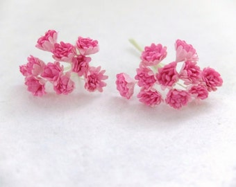 20 10mm pink mulberry flowers