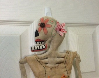 Welcome Spring Sale Primitive Day of the Dead Bonita