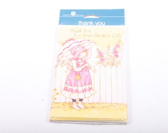 Holly Hobbie, Thank You Cards, American Greetings, Thank You for Shower Gifts, Baby Shower, Feminine ~ The Pink Room ~ 170127