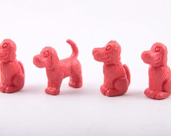 Clifford the Big Red Dog Vintage 1989 Pencil Toppers, Dogs, Puppies, Party Favors, Red, School Supplies, Vintage ~ The Pink Room ~ 160905