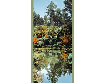 Portland Japanese Garden, Pond, Archival Print or Canvas on Panel, Wall Art, Photography, Gift from Oregon