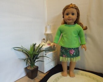 Flowers on the Green Outfit-Fits 18 Doll LIKE American Girl