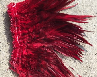 Dark red/ bronze  saddle feathers, rooster feathers, tahitian costumes, milinery, costumes