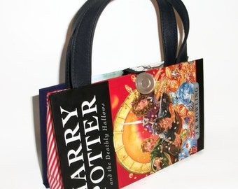 Harry Potter and the Deathly Hallows Book Purse, Womens Handbag made from a book, Recycled Bag, Clutch