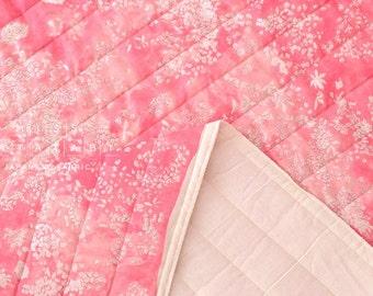 Nani Iro Kokka Japanese Fabric Lei nani quilted double gauze - For beautiful corolla - bugen - 50cm