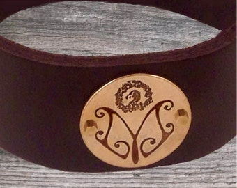 Logo Leather Bracelet by donnaodesigns