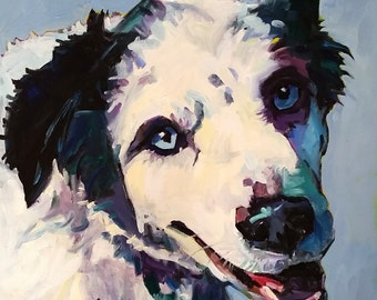 Custom Pet Portraits  10x10 - other sizes available - Order today for Christmas