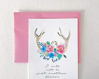 Greeting Card - Boho - Antlers