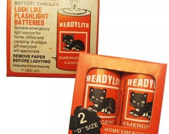 2 x Packages of READYLIGHT Vintage Novelty Battery Candles