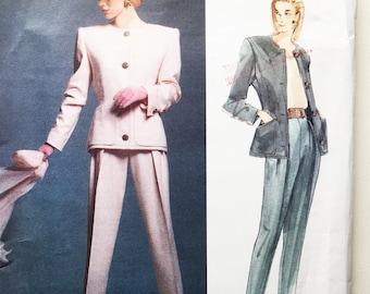 Vintage 80s Givenchy Vogue Paris Original Jacket and Pants Pattern Uncut 12 - 14 - 16 Vogue 2643 34 36 38 Bust