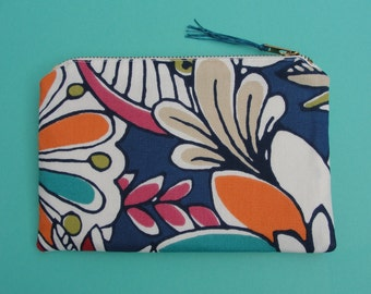 Floral Zipper Pouch/Coin Purse