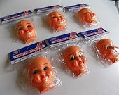 "Vintage Westrim Crafts Lot of 6 Plastic Dimple Doll Face 3"""