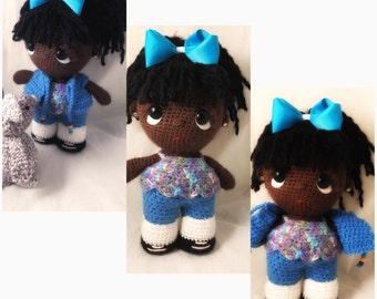African American Crochet Doll
