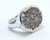 Cherry Bloom Ring -silver RESERVED for Shearin