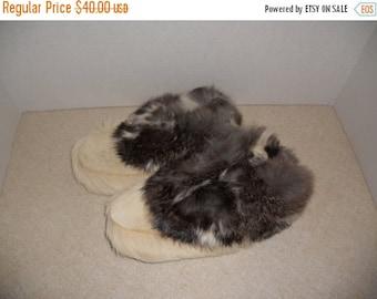 30% Off SALE SALE   vtg vintage kids child children mukluks leather fur moccasins deer goat rabbits fox HANDMADE