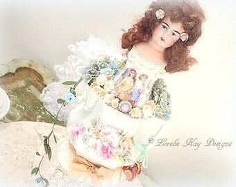 Anastasia Assemblage Art Doll Romantic Art Doll Frilly Red Hair Girl Doll Lorelie Kay Original