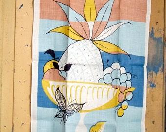 Pair of Vintage Linen Tea Towels - Stevens MWT - Designer