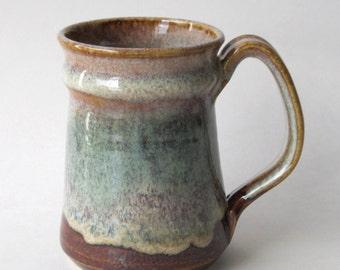 Stoneware Coffee  Mug - Coffee Mint Glaze