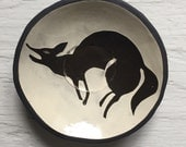Small Ceramic Coyote Plate