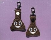 Emoji Poop Keychain, Key fob
