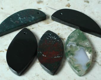 Gemstone pendant set (item ID SZPS3M-3)