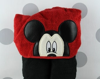 Toddler Hooded Towel - Mickey Mouse Hooded Towel – Mickey Mouse Towel for Bath, Beach, or Swimming Pool