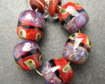 CrazyCatGlass Lampwork Boro Glass Beads Handmade Monticello Stones