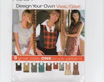 Simplicity Pattern  9616 Vest sz 18 20 22