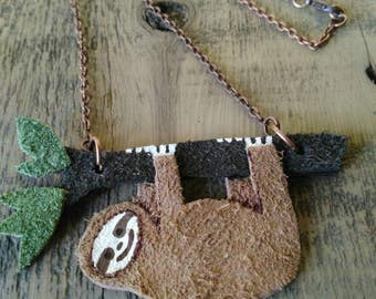 Three Toed Sloth Necklace