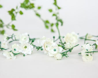 46 TINY Roses in Ivory - MINIATURE Artificial Roses - ITEM 059