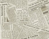 Reserved for cindy - 2 yards - 29.00 - Story Newsprint by Carrie Bloomston  - (108 Inch Width) - 1 Yard - 14.50 Dollars