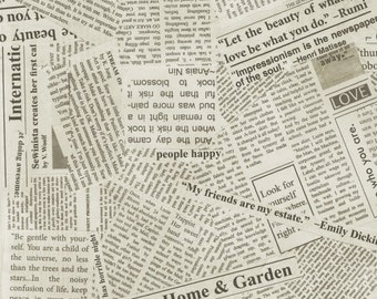 Story Newsprint by Carrie Bloomston  - (108 Inch Width) - 1 Yard - 14.50 Dollars