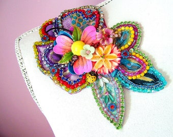 Spring Fever - OOAK Brooch- Ready to ship xx