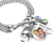 Personalized Brides Bracelet, Wedding Jewelry, Bridal Bracelet, Daughter in Law, Daughter Wedding Bracelet, Bridal Jewelry, Gift for Bride
