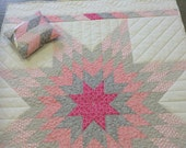 Lone Star baby quilt made to order for Jane with bonus pillow