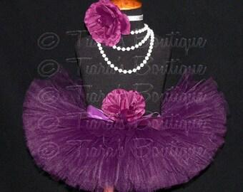 Girls Tutu - Eggplant - Plum Purple Tutu - Custom Sewn Tutu - Up to 8'' length - sizes Newborn to 5T